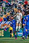 26 October 2019: University of Vermont Catamount Defender Garrett Lillie, a Sophomore from York, Maine, in first half action against the University of Massachusetts Lowell River Hawks at Virtue Field in Burlington, Vermont. The Catamounts rallied to defeat the River Hawks 2-1, propelling the Cats to the America East Division 1 conference playoffs. Mandatory Credit: Ed Wolfstein Photo *** RAW (NEF) Image File Available ***