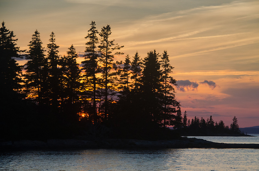 Sunset from Ram Island, Castine, Maine, US