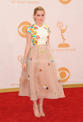 Kiernan Shipka arrives at the 65th Primetime Emmy Awards at Nokia Theatre on Sunday Sept. 22, 2013, in Los Angeles.  MPI213 / MediaPunch Inc.