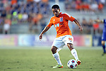 16 August 2014: Carolina's Danny Barrera. The Carolina RailHawks played FC Edmonton at WakeMed Stadium in Cary, North Carolina in a 2014 North American Soccer League Fall Season match. Edmonton won the match 3-2.
