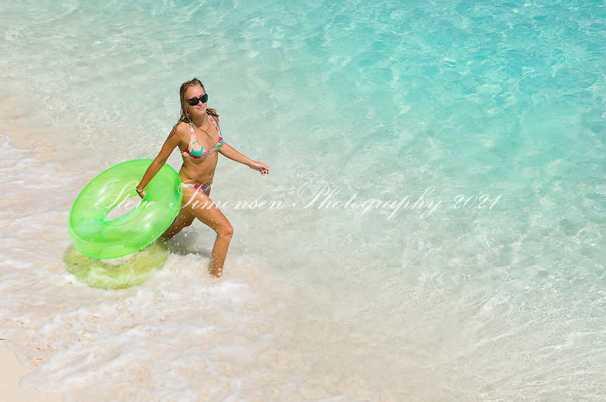 Katie Day at Trunk Bay<br /> Virgin Islands National Park<br /> St. John<br /> U.S. Virgin Islands