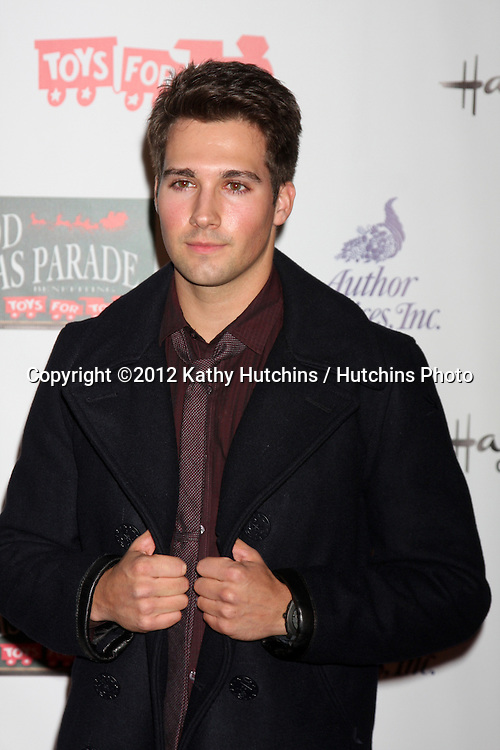 LOS ANGELES - NOV 25:  James Maslow arrives at the 2012 Hollywood Christmas Parade at Hollywood & Highland on November 25, 2012 in Los Angeles, CA