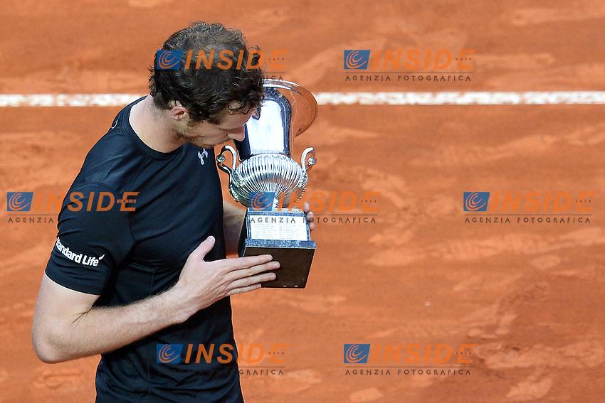 Andy Murray premiazione prizegiving<br /> Roma 15-05-2016  Foro Italico<br /> Internazionali BNL d'Italia, Men Final, <br /> Tennis WTA<br /> Foto Antonietta Baldassarre / Insidefoto