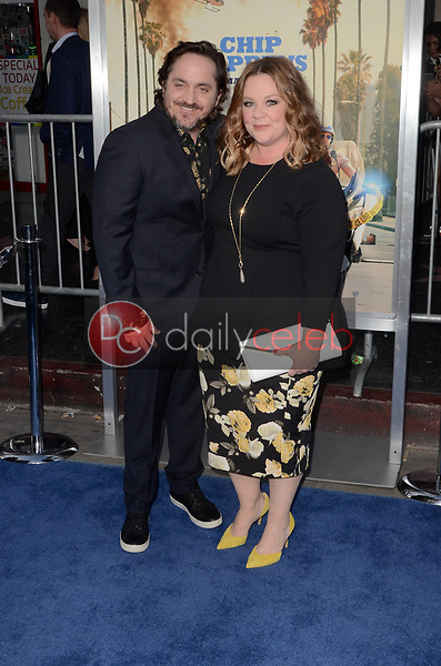 "Ben Falcone, Melissa McCarthy<br /> at the ""Chips"" Los Angeles Premiere, TCL Chinese Theater, Hollywood, CA 03-20-17<br /> David Edwards/DailyCeleb.com 818-249-4998"