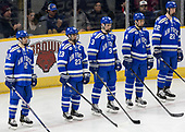 Matt Serratore (AFA - 12), Dylan Abood (AFA - 23), Johnny Hrabovsky (AFA - 3), Phil Boje (AFA - 4), Pierce Pluemer (AFA - 22) - The Harvard University Crimson defeated the Air Force Academy Falcons 3-2 in the NCAA East Regional final on Saturday, March 25, 2017, at the Dunkin' Donuts Center in Providence, Rhode Island.