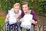 Mercy Mounthawk students Emma Leahy and Ciara Holmes got 11 A's in their Junior Cert. on Wednesday.