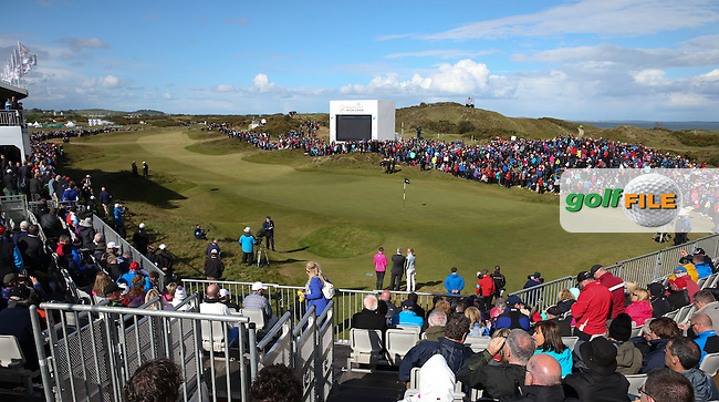 Scenes at the 18th hole during the 2015 Dubai Duty Free Irish Open Hosted by The Rory Foundation at Royal County Down Golf Club, Newcastle County Down, Northern Ireland. 30/05/2015. Picture David Lloyd   www.golffile.ie