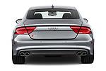 Straight rear view of 2015 Audi S7 Base 4 Door Sedan stock images