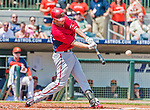 20 March 2015: Washington Nationals outfielder Kevin Frandsen in Spring Training action against the Houston Astros at Osceola County Stadium in Kissimmee, Florida. The Nationals defeated the Astros 7-5 in Grapefruit League play. Mandatory Credit: Ed Wolfstein Photo *** RAW (NEF) Image File Available ***
