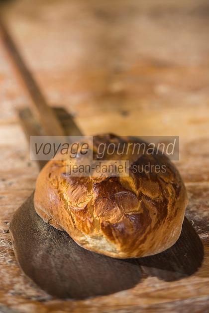 France, Morbihan (56), Golfe du Morbihan, Saint-Armel ,  le Gochtial, sorte de pain -brioche  du Moulin à Café - Bar Boulangerie // France, Morbihan, Gulf of Morbihan, Saint Armel , Gochtial, local  brioche, Le Moulin à Café , bar and bakery