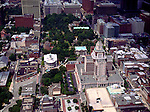 Aerial view of Independence Hall, Philadelphia, Pennsylvania