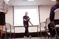 Oceanside, CA-Wednesday, June 19, 2019: US Soccer Coaches Ed Event at QLN conference center. Barry Pauwels gives his presentation.