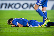 28th September 2017, Partizan Stadium, Belgrade, Serbia; UEFA Europa League group stage, Partizan versus Dynamo Kiev; Midfielder Viktor Tsygankov of Dynamo injures during the match