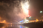 Fire Works in Drogheda as part of the Drogheda Christmas Bonanza 2011 taken from the River Boyne..Picture Fran Caffrey www.newsfile.ie