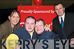 Fundraising:    Jacinta McElligott, fundraiser, William O'Connell and Paul Quinn, Listowel and Tim Moynihan, Garvey's Listowel at the launch of the Special Olympics in the Mermaids Listowel on Thursday night..