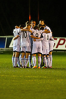 Tuesday 17 December 2013<br /> Pictured: Pre Match huddle<br /> Re: Swansea City vs Oxford United, FA Youth Cup, Stebonheath, Llanelli, Wales
