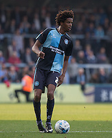 Sido Jombati of Wycombe Wanderers looks for options during the Sky Bet League 2 match between Wycombe Wanderers and Northampton Town at Adams Park, High Wycombe, England on 3 October 2015. Photo by Andy Rowland.