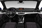 Stock photo of straight dashboard view of a 2017 Audi A5 Sport 2 Door Convertible