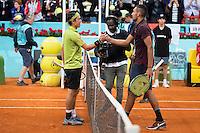 Japanese Kei Nishikori and australian Nick Kyrgios during Mutua Madrid Open Tennis 2016 in Madrid,  May 06, 2016. (ALTERPHOTOS/BorjaB.Hojas) /NortePhoto.com /NortePhoto