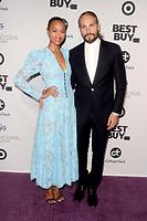 LOS ANGELES - NOV 8:  Zoe Saldana, Marco Perego at the Eva Longoria Foundation Gala at the Four Seasons Hotel on November 8, 2018 in Beverly Hills, CA