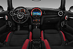 Stock photo of straight dashboard view of a 2017 Mini Cooper John Cooper Works 2 Door Convertible