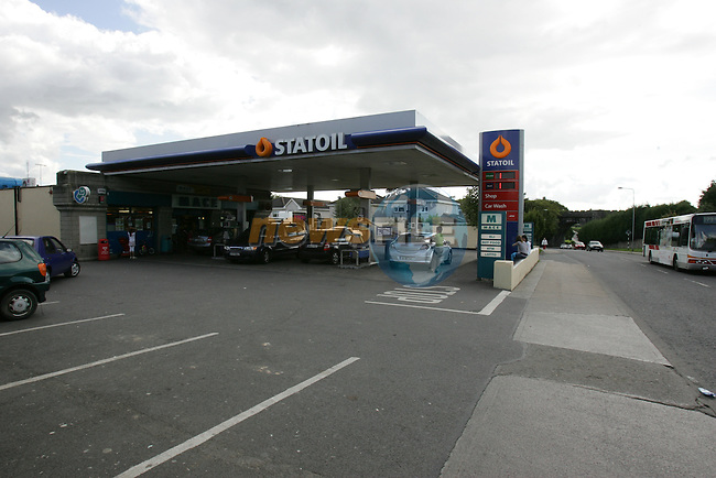 The Statoil Garage on the Termonfeckin Road where the winning lotto ticket was sold on Wednesday..Photo: Fran Caffrey/ Newsfile.