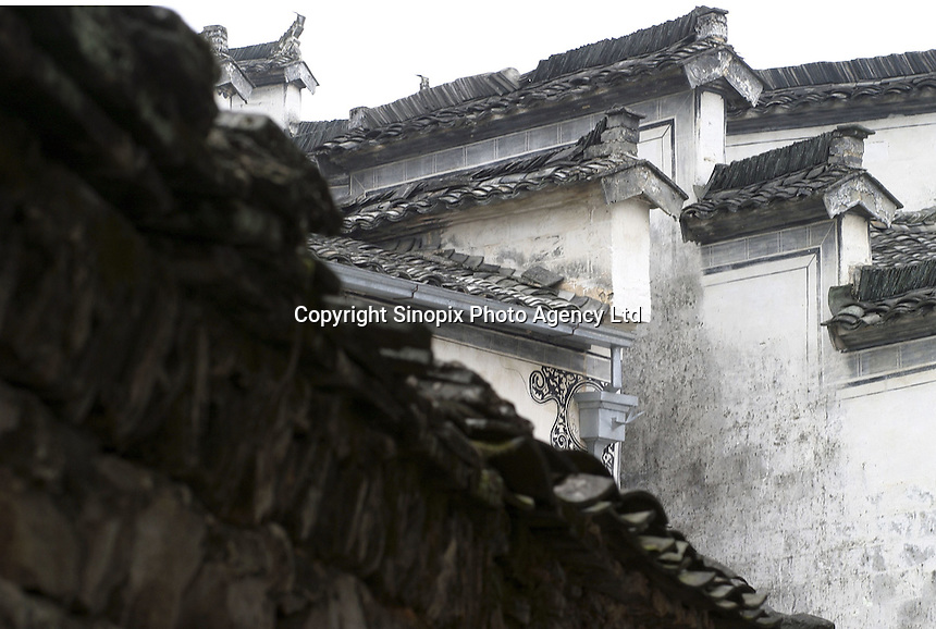 A view of the Hui architecture still preserved in the Hongcun Village, a UN World Heritage Site, in Anhui Province, China. China recently hosted a UNESCO world heritage conference, while the country's some 30 listed sites have enjoyed an increase in general public awareness and the resulting tourism, which generates much needed income in China's rural regions while raising concerns from conservation groups over their true preservation..26-JUN-04
