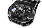 Car Stock 2016 Mazda MX-5 Miata Grand Touring 2 Door Convertible Engine high angle detail view