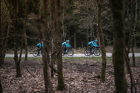 Team Astana during their Liège-Bastogne-Liège 2017 recon