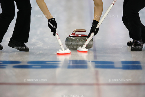 General view, <br /> FEBRUARY 13, 2014 - Curling : Women's Curling Round Robin match between USA - Japan at &quot;ICE CUBE&quot; Curling Center during the Sochi 2014 Olympic Winter Games in Sochi, Russia.  <br /> (Photo by Koji Aoki/AFLO SPORT)