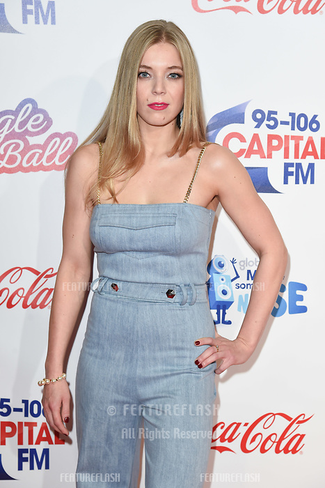 LONDON, UK. December 08, 2018: Becky Hill at Capital&rsquo;s Jingle Bell Ball 2018 with Coca-Cola, O2 Arena, London.<br /> Picture: Steve Vas/Featureflash