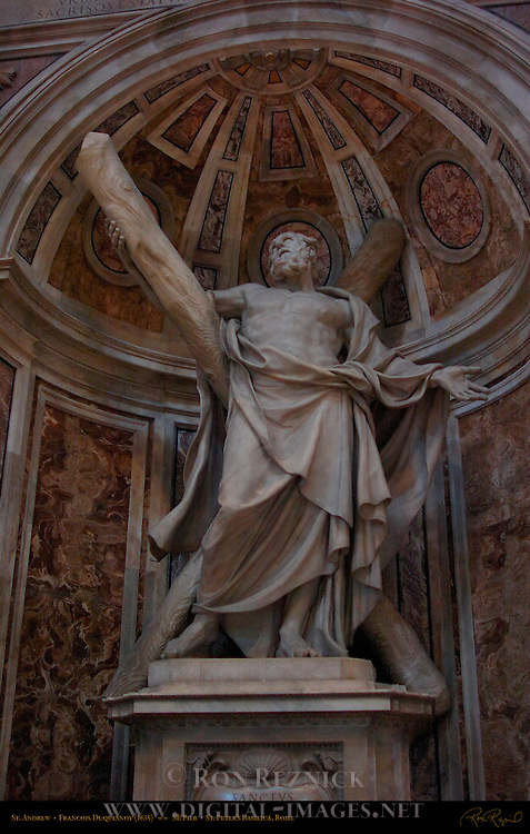 Saint Andrew, Francois Duquesnoy 1635, Southeast Pier Sculpture, Saint Peter's Basilica, Rome