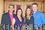 DINNER DANCE: Having a great time at the St Patrick's GAA annual social at the Meadowlands hotel on Saturday l-r: Kieran O'Shea, Julie Walsh, Fiona Anderson and Joe Costello.