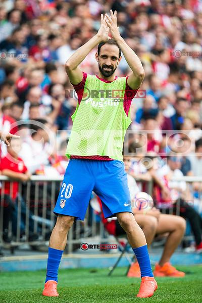 Atletico de Madrid's player Juanfran Torres during a match of La Liga Santander at Vicente Calderon Stadium in Madrid. September 17, Spain. 2016. (ALTERPHOTOS/BorjaB.Hojas) /NORTEPHOTO