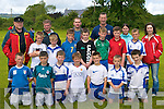 Participating in the Castleisland Garda soccer blitz in Castleisland on Sunday was front row l-r:  Colin McCarthy, Cian O'Connor, Johnny Costello, Evan O'Brien, Brian Broderick, Dan Maunsell, Dan Looney. Back row: Jason Keane, Ethan Brosnan, Ethan O'Connor, Cian O'Connor, Eamon Breen, Sean Prenderville, Jamie Maunsell. Back row: John Reidy, Peter Carty, Robbie Fields, Sargent John O'Mahony, Madeline Frissang and Louise Shanahan.