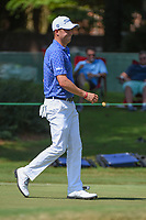 Justin Thomas (USA) sinks his par putt on 10 during round 2 of the WGC FedEx St. Jude Invitational, TPC Southwind, Memphis, Tennessee, USA. 7/26/2019.<br /> Picture Ken Murray / Golffile.ie<br /> <br /> All photo usage must carry mandatory copyright credit (© Golffile | Ken Murray)