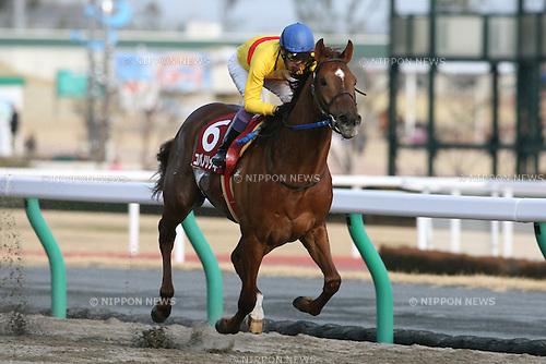 Copano Rickey (Yutaka Take),<br /> JANUARY 25, 2015 - Horse Racing :<br /> Copano Rickey ridden by Yutaka Take wins the Tokai TV Hai Tokai Stakes at Chukyo Racecourse in Aichi, Japan. (Photo by Eiichi Yamane/AFLO)