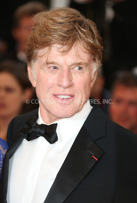 WWW.ACEPIXS.COM....US Sales Only....May 22 2013, Cannes....Robert Redford at the premiere of 'All Is Lost' during the 66th Cannes Film Festival on May 22 2013 in France ....By Line: Famous/ACE Pictures......ACE Pictures, Inc...tel: 646 769 0430..Email: info@acepixs.com..www.acepixs.com