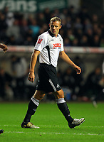 ATTENTION SPORTS PICTURE DESK<br /> Pictured: Lee Trundle of Swansea City in aciton <br /> Re: Coca Cola Championship, Swansea City Football Club v Nottingham Forest at the Liberty Stadium, Swansea, south Wales. Saturday 12 December 2009