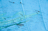 A map shows the northeast tip of Isle Royale National Park in Michigan USA.