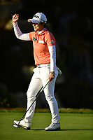 The 2018 Kia Classic Champion Eun-Hee Ji (KOR) with a fist pump after making the winning &amp; final put during the Final Round at the Kia Classic,Park Hyatt Aviara Resort, Golf Club &amp; Spa, Carlsbad, California, USA. 3/25/18.<br /> Picture: Golffile | Bruce Sherwood<br /> <br /> <br /> All photo usage must carry mandatory copyright credit (&copy; Golffile | Bruce Sherwood)
