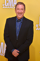 NASHVILLE, TN - NOVEMBER 1: Tim Allen on the Macy's Red Carpet at the 46th Annual CMA Awards at the Bridgestone Arena in Nashville, TN on Nov. 1, 2012. © mpi99/MediaPunch Inc. /NortePhoto .<br />