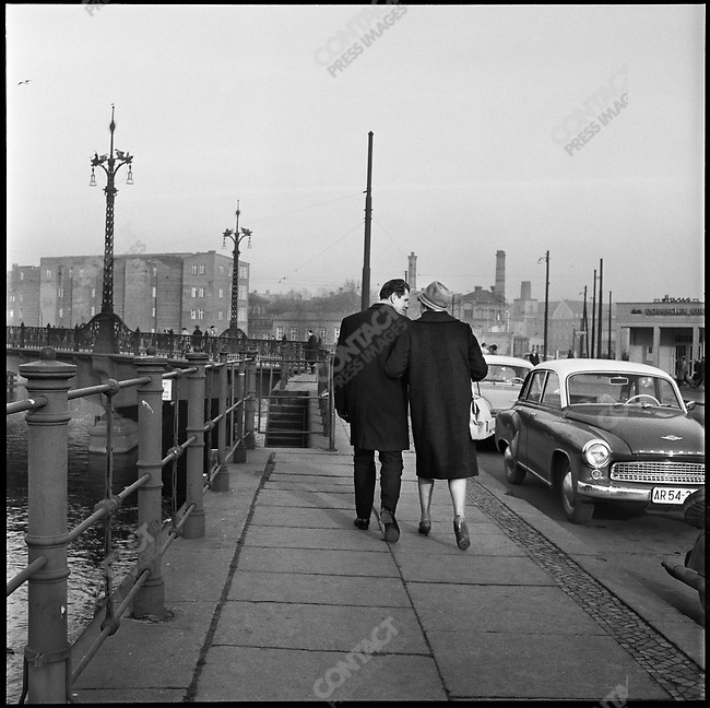 At the time of the construction of the Berlin Wall, West Berlin, Germany, November 1961