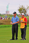 29 August 2009: Webb Simpson and his caddie during the third round of The Barclays PGA Playoffs at Liberty National Golf Course in Jersey City, New Jersey.