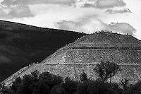 People climbing the Pyramid of the Sun, Teotihuacan, Mexico