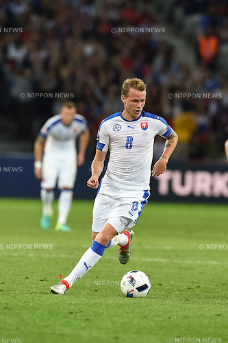 Ondrej Duda (Slovakia) ; <br /> June 15, 2016 - Football : Uefa Euro France 2016, Group B, Russia 1-2 Slovakia at Stade Pierre Mauroy, Lille Metropole, France.; ;(Photo by aicfoto/AFLO)