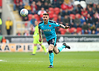 Ashley Eastham of Fleetwood Town during the Sky Bet League 1 match between Rotherham United and Fleetwood Town at the New York Stadium, Rotherham, England on 7 April 2018. Photo by Leila Coker.