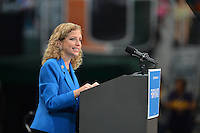 CORAL GABLES, FL - OCTOBER 11:  DNC Chair Debbie Wasserman Schultz speaks speaks during a Grassroots Event with President Barack Obama at Bank United Center on October 11, 2012 in Coral Gables, Florida.  © MPI10/MediaPunch Inc