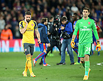 Arsenal's Olivier Giroud looks on dejected at the final whisle during the Premier League match at Selhurst Park Stadium, London. Picture date: April 10th, 2017. Pic credit should read: David Klein/Sportimage