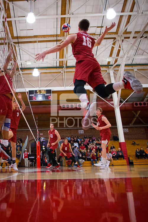 STANFORD, CA - March 10, 2018: Matt Klassen at Burnham Pavilion. UC Irvine defeated the Stanford Cardinal, 3-0.